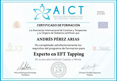 Diploma eft tapping Andrés2